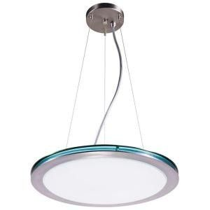 Hampton Bay 2 Light Brushed Nickel Fluorescent Pendant